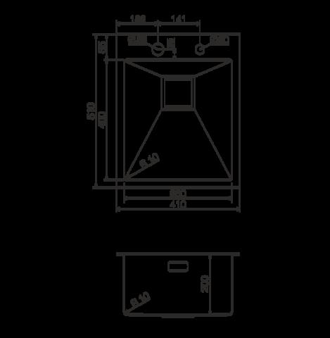 Кухонная мойка из нержавеющей стали OMOIKIRI Akisame 41-LG (4993080)