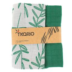 Набор кухонных полотенец с графичным принтом 'Папоротник' Tkano TK18-TT0001