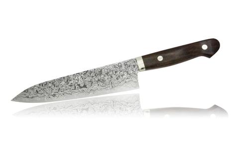 Нож кухонный стальной Шеф 180мм Hiroo Itou Damaskus HI-1126