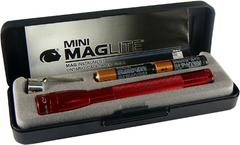 Фонарь MAGLITE Mini,  12.7 см, красный, 2-ААA, пластиковая коробка M3A032E