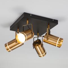 Светодиодный потолочный светильник с поворотными плафонами Eurosvet Bronze 20063/4 античная бронза
