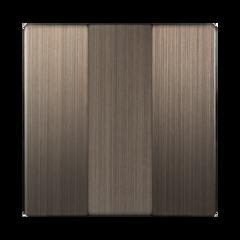 Набор клавиш для выключателя трехклавишного (бронзовый) WL12-SW-3G-CP Werkel
