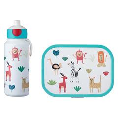 Набор детский ланч-бокс и бутылка для воды Mepal 400мл+750мл (животные) MEP-74101-65373
