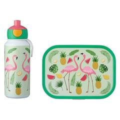 Набор детский ланч-бокс и бутылка для воды Mepal 400мл+750мл (фламинго) MEP-74101-65374