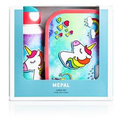 Набор детский ланч-бокс и бутылка для воды Mepal 400мл+750мл (единорог) MEP-74101-65377*