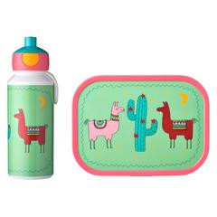 Набор детский ланч-бокс и бутылка для воды Mepal 400мл+750мл (лама) MEP-74101-65379