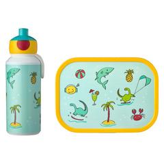 Набор детский ланч-бокс и бутылка для воды Mepal 400мл+750мл (акула) MEP-74101-65380