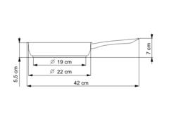 Сковорода глубокая 22см KOLIMAX серия KLASIK 104007