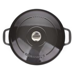 Кастрюля чугунная 28см (6,3л) CHASSEUR Caviar (цвет: cеребристо-черный) арт. 472889