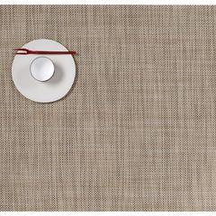 Салфетка подстановочная, жаккардовое плетение, винил, (36х48) Linen (100132-014) CHILEWICH Mini Basketweave арт. 0025-MNBK-LINE
