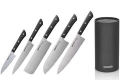 5 ножей Samura HARAKIRI и браш-подставка (упакованы отдельно)