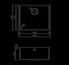 Кухонная мойка из искусственного гранита (Tetogranit) OMOIKIRI Bosen 54-U-BL (4993161)