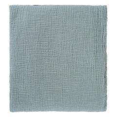 Покрывало из жатого хлопка джинсово-синего цвета  из коллекции Essential, 180х240 см Tkano TK20-BS0002