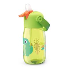 Бутылочка детская с силиконовой соломинкой 415 мл зелёная Zoku ZK201-GN