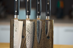 Комплект из 4 ножей (37 слоев) YAXELL Zen и подставки
