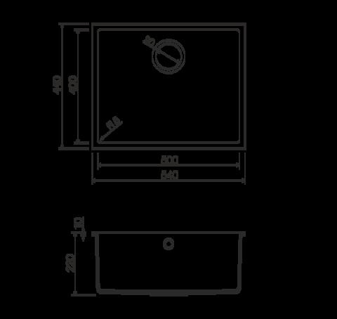 Кухонная мойка из искусственного гранита (Tetogranit) OMOIKIRI Bosen 54-U-DC (4993232)