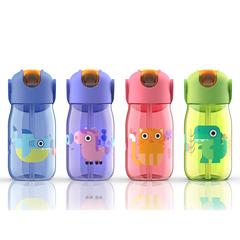 Бутылочка детская с силиконовой соломинкой 415 мл розовая Zoku ZK201-PK