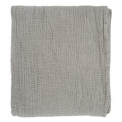 Покрывало из жатого хлопка серого цвета  из коллекции Essential, 230х250 см Tkano TK20-BS0006