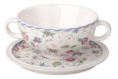 Суповая чашка на блюдце Букингем IMARI 12158