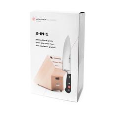 Подарочный набор: кухонный Шеф нож 20см WUSTHOF Classic и светлой подставка арт. 9835-99