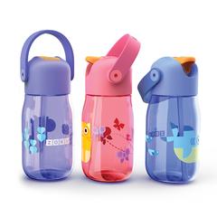 Бутылочка детская с силиконовой соломкой 415 мл фиолетовая Zoku ZK201-PU