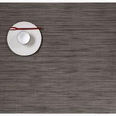 Салфетка подстановочная, жаккардовое плетение, винил, (36х48) Light grey (100132-015) CHILEWICH Mini Basketweave арт. 0025-MNBK-LTGR
