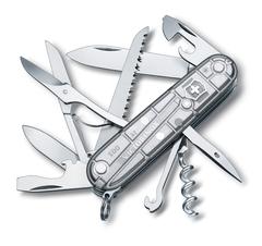 Нож Victorinox Huntsman, 91 мм, 15 функций, полупрозрачный серебристый 1.3713.T7