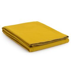 Покрывало из фактурного хлопка горчичного цвета с контрастным кантом из коллекции Essential, 180х250 см Tkano TK20-BS0011