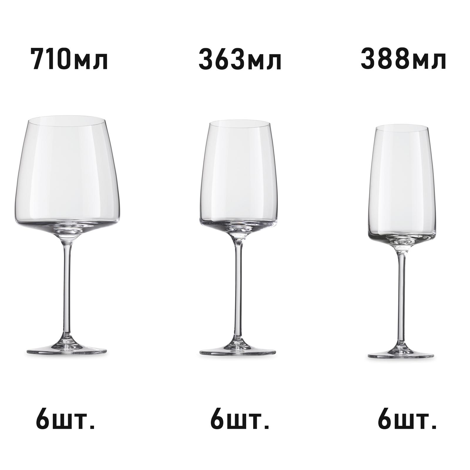 Комплект из 3 наборов по 6 бокалов SCHOTT ZWIESEL Sensa