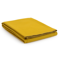 Покрывало из фактурного хлопка горчичного цвета с контрастным кантом из коллекции Essential, 230х250 см Tkano TK20-BS0012