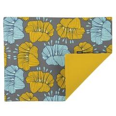 Cалфетка двухсторонняя под приборы из хлопка серого цвета с принтом Цветы из коллекции Prairie, 35х45 см Tkano TK20-PM0003
