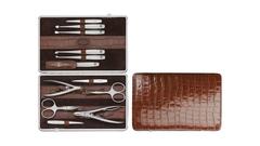 Маникюрный набор 12 пр. TWINOX коричневый, отделка