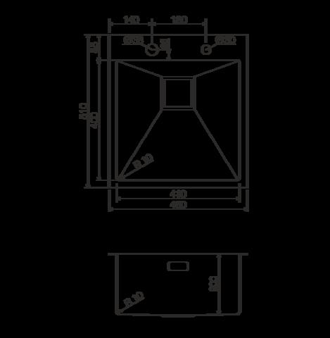 Кухонная мойка из нержавеющей стали OMOIKIRI Akisame 46-LG (4993081)