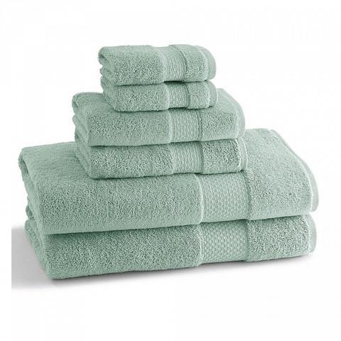 Полотенце для ног (банный коврик) 51х86 Kassatex Elegance Seafoam ELG-175-SF