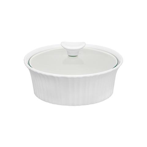 Форма для запекания круглая 1,4 л с крышкой Corningware French White 1105932