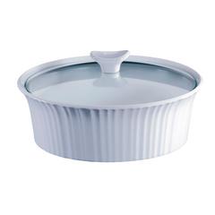 Форма для запекания круглая 2,3 л с крышкой Corningware French White 1105930
