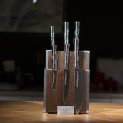 Комплект №2 из 6 ножей Samura BAMBOO и коричневой подставки