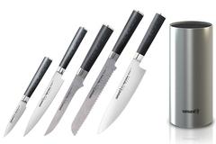 Набор из 5 кухонных ножей Samura Mo-V и металлической подставки 55655413