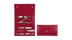 Маникюрный набор 5 пр. INOX красный Zwilling 97437-003