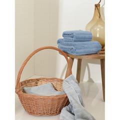 Полотенце банное Waves джинсово-синего цвета из коллекции Essential, 70х140 см Tkano TK21-BT0001