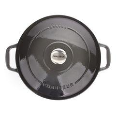 Кастрюля чугунная 26см (5,2л) CHASSEUR Caviar (цвет: cеребристо-черный) арт. 472689