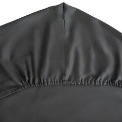 Простыня на резинке из сатина темно-серого цвета из коллекции Wild, 180х200 см Tkano TK20-FS0015