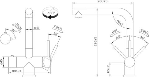 Смеситель для кухни OMOIKIRI Takamatsu (4994085)