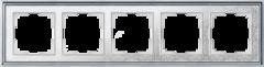 Рамка на 5 постов (хром/белый) WL77-Frame-05 Werkel