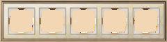 Рамка на 5 постов (золото/белый) WL77-Frame-05 Werkel