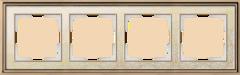 Рамка на 4 поста (золото/белый) WL77-Frame-04 Werkel