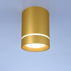 Потолочный светодиодный светильник DLR021 9W 4200K золото матовый Elektrostandard