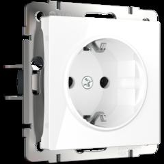 Розетка с заземлением (белая) WL01-SKG-01-IP20 Werkel