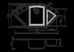 Кухонная мойка из искусственного гранита (Tetogranit) OMOIKIRI Sakaime 105C-BL (4993123)