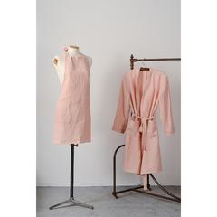 Фартук из умягченного льна розово-пудрового цвета из коллекции Essential, 82х70 см Tkano TK19-AP0005